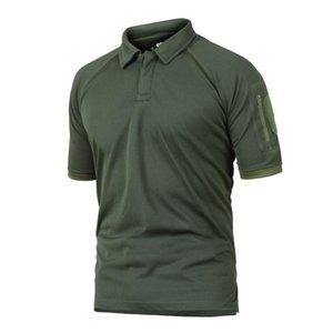 Мужская Летняя Army Combat Камуфляж T-Shirt Man Tactical Coolmax Быстросохнущий Короткие рукава рубашки дышащие Солдаты Uniform