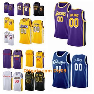 Özel Los AngelesLakersJersey Erkekler Kadınlar Kid Adı Numara 23 James824 Bryant3 Davis swingman Basketbol Formalar Altın