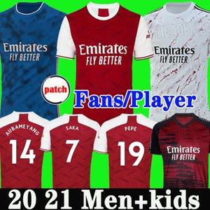 عدد المعجبين لاعب نسخة أرسين لكرة القدم جيرسي 20 21 PEPE SAKA NICOLAS CEBALLOS GUENDOUZI سوكراتيس ميتلاند-NILES 2020 2021 قميص كرة القدم الرجال الأطفال