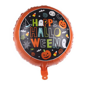 Halloween Kürbis-Geist-Ballone Halloween-Dekorationen Spinne Folienballons Aufblasbare Spielzeuge Bat Globos Halloween Party Supplies