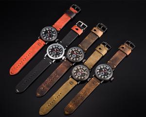 Male Clock CURREN Genuine Leather Strap Men's Wristwatch Display Week Date Quartz-Watch Fashion Business Men Watches
