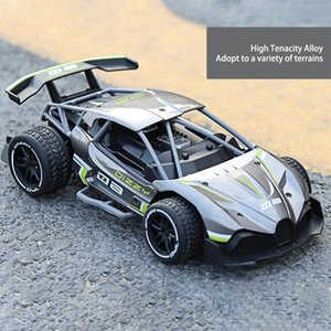 1:16 Kids Remote Control Car 2.4G Alloy 4-Channel 2-Wheel Off-road Vehicle Rechargeable Drift High-speed Toy Car Y200317