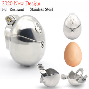New Stainless Steel Fully Restraint Male Chastity Devices With Thorn Ring,Scrotum Ball Stretcher,Cock Cage,BDSM Sex Toys For Men