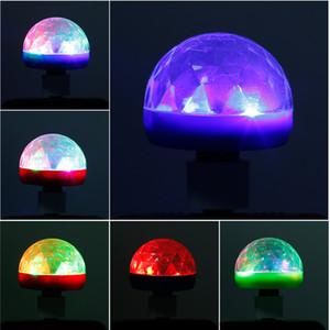 Cep Telefonu için SICAK Mini USB LED Disco Sahne Işık Taşınabilir Aile Partisi Sihirli Topu Renkli Işık Bar Club Sahne Etkisi Lambası