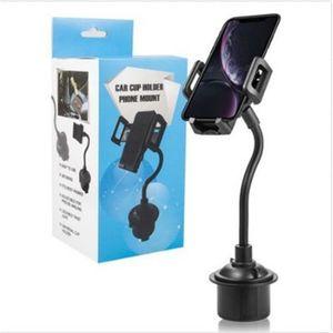 Titular de la copa de WeatherTech Montaje de teléfono celular universal 2 en 1 cuna de automóviles Titulares de cisne ajustables compatibles con teléfonos de Samsung y iPhone