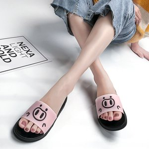 Non-slip Cute Cartoon Pig Pattern Women Shoes Spring Summer Slippers Home Slides Slippers Women Thick Soft Bottom Wear-resistant