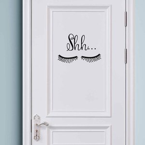 Vinilo etiqueta de la pared decoración del dormitorio de las niñas lindo hermoso patrón de pestañas Ojos Wall Sticker Decal Decoración de la Habitación del bebé
