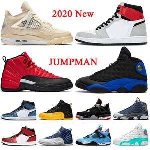air jordan off white 2020 stock x mens trainers tênis de basquete de alta qualidade sail 4 4s jumpman 1 fumaça cinza chicago 12 12s hyper royal 13 flint tênis femininos