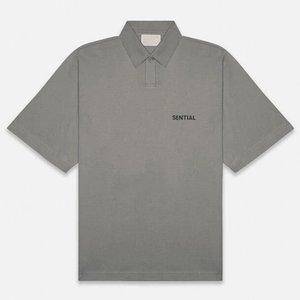 Carta clásico 20SS FG Imprimir POLO negocios nuevo estilo simple sólido Herramientas informal camiseta Botón Calle transpirable verano tee HFYMTX970