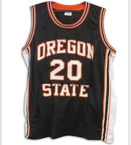 Uomini personalizzati giovani donne vintage # 20 Gary Payton Oregon State Beaver Beaver Basket Jersey Size S-6XL o personalizzato Qualsiasi nome o Numero Jersey