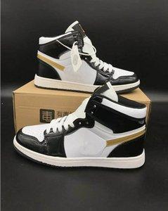 Классические мужские ботинки скейтборда 1S кроссовки Марка Мужчины Женщины High Top шнуровке кожа OG Повседневная обувь Dunk Открытый дышащий Спортивная обувь