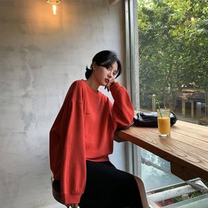 Early autumn Top dress top slim sweater 2019 new women's autumn online red thin loose women's dress