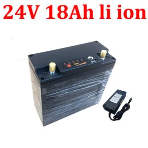 24v 18ah lithium ion battery li with USB port 18650 BMS for 500w 350W ebike RV Solar Weeder mower wheelchair +3A charger