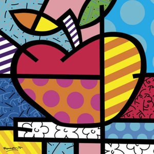 Açık Tuval Wall Art Kanvas Parlak Meyve Mutfağı Pop Resimler 200.528 Boyama Romero Britto Ev Dekorasyonu El Sanatları Yağı ile Elma