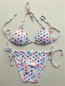 2020 Nouveau Bikini Maillots de bain pour femmes Hot Brand Maillot de bain Beachwear été une pièce Sexy Lady g lettre fleur imprimer maillot de bain Y18