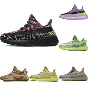 2020 Coconut V2 PrimeKnit Static Reflective Laufschuhe Originals Kanye West V2 Built-in wirklich Buffer Foam Jogging-Schuhe