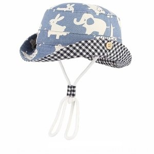 BIn bucket bucket children's summer boys' zoo fisherman babies' cartoon sun hat babies' sun hat