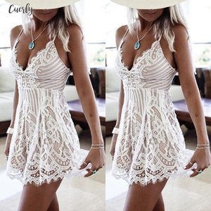 2020 New Sexy Women Summer Sleeveless Lace Dress Evening Bodycon Dresses Party Mini Dress Hot Selling Ladies Summer Dress