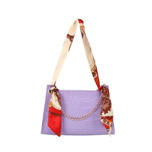 lady Bags Crocodile Shoulder Scarf Square Sling Bag New Lady Hand Carrying and Shoulder Carrying Aslant Coin Purse luxury bag