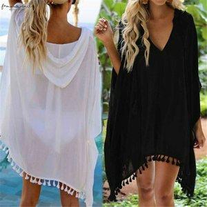 Womens Bikini Cover Up Applique Swimwear Beach Maxi Wrap Skirt Sarong Kimono Kaftan Dress Drop Shipping