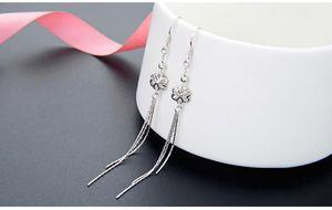 Top quality S925 sterling women's silver earrings women's silver hook earring silver fringe earring flower earrings DDS2934