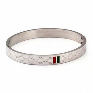 JINHUI encanto del brazalete pulsera brazalete para las mujeres de acero inoxidable chapado en oro de 4 mm 6 mm 8 mm Ancho de boda de lujo de la joyería femenina regalos TSFR #