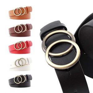 de la mujer pantalones vaqueros de diseño de moda Cinturones de Oro bulkles correa de cuero de alta calidad de la correa de chicas de las mujeres 2019 del nuevo de la correa del vestido