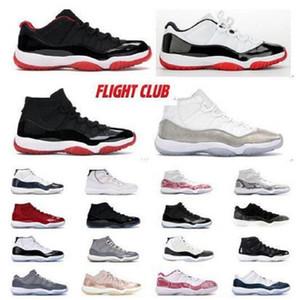 11s 11 top qualité des chaussures de basket-ball femmes 45 Platinum CONCORD Tint faible agrumes Bred Espace cerise chapeau et robe Jam chaussures baskets sport