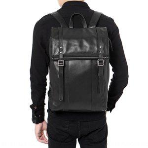 Zi1IS New business large capacity handmade shoulder Bag backpack leather men's shoulder bag travel outdoor students multi-functional backpac