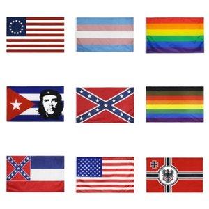 150cm * 90cm Universität von Wisconsin Badgers Flagge UW Bucky Flagge Banner 3 * 5FT Polyester Benutzerdefinierte Hanging Startseite Dekorative # 190