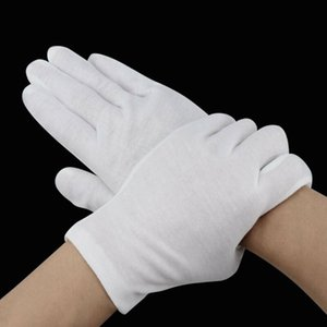 6PCS Unisex Adult White Gloves Inspection Cotton Work Coin Jewelry Lightweight for Waiters Workers