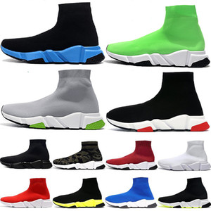 Sock Runners uomini donne scarpe casual Speed Trainer Knit Parigi triple nero piana di modo Calze Scarpe da ginnastica Runner sneakers sportive piattaforma