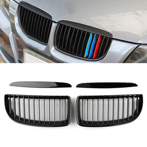 Areyourshop Car Front Kidney Grill Mesh Grille Fit For BMW E90 3 Series Sedan 2005-2008 Car Auto Accessories Parts