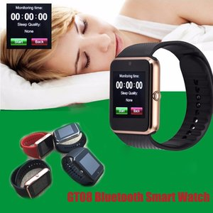 GT08 Smart Watch Bluetooth Smartwatches SIM Card Slot NFC Health Watches for Android with Retail Box