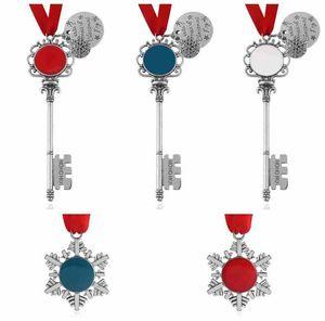 5 Styles Keychain de Noël magique du Père Noël clé de Noël Porte-clés Pendentif ornement Décorations de Noël Cadeaux Halloween ZZA2458 50pcs