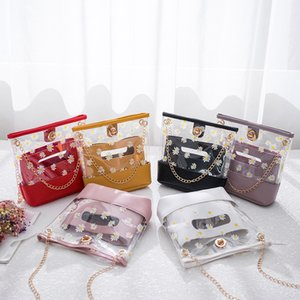 xTsLs women 2020 new Korean style summer and autumn fashion Daisy women's 2020 bags & shoes transparent jelly bag single shoulder diagonal