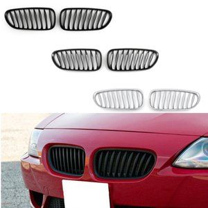 Areyourshop Car 2x Chrome Front Bumper Sport Kidney Grille Grill Fit For BMW Z4 E85 E86 2003-2008 Car Auto Accessories Parts