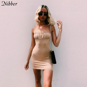 Nibber elegant red black lace up bodycon mini dress for womens 2020 summer fashion ladies beach casual vacation Harajuku dress