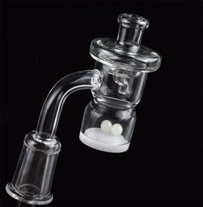 Hot Selling 4mm Opaque Bottom Splash Guard Quartz Banger Nail With Glass UFO Carb Cap Terp Pearl Ball for Glass Smoking Water Pipes