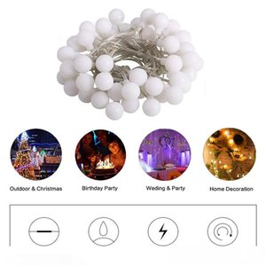 USB 5V Powered Portable Globe Ball Led String Light Holiday Light 3M 6M Waterproof In Outdoor Christmas Fairy Lamp Decoration