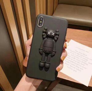 새로운 아이폰 11 포 최대 X가 최대 XR X 6 6S 7 8 플러스 케이스 커버 KAWS 3D 장난감 만화 부드러운 실리콘 고무 귀여운