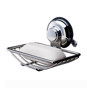 Vacuum Suction Soap Dish Holder Bar Soap Sponge Tray for Shower Bathroom Tub and Kitchen Sink rust proof stainless steel NN