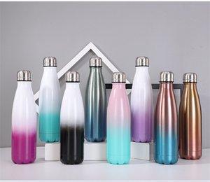 500ml Sports Water Bottle Stainless Steel Graduated Water Bottle Cola Shape Bottle Outdoor Travel Sports Mug Coffee mug