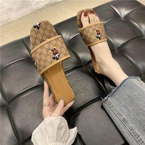 New pattern GG Mouse Slippers for Women designer Flip Flops Gu̴cci L̴V Ladies Sliders Sandals guccì Louìs Vuìtton Beach Shoes
