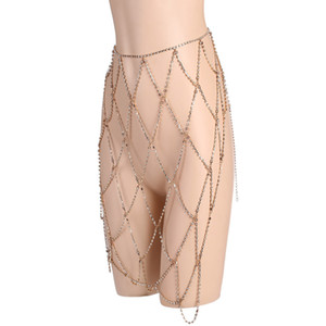 Rhinestone Beach Fish JCK017 Skirts 2019 Fashion Mesh Womens See Through Hip NightClub Package Skirt Diamond Pencil Net Mini Kiwqe