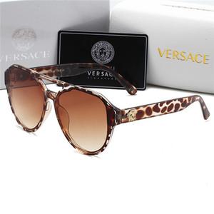 Versace Sonnenbrille Schmetterling Frauen arbeiten Randlos Flamme Sun Glasrhinestones Spiegel Cat Eye Brillen UV300 Oculos Masculino