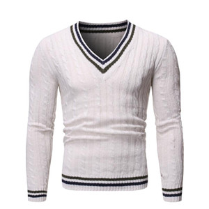 JAYCOSIN Men's Sweater Fashion Men Casual V-Neck Pullover Man Autumn Warm Slim Fit Long Sleeve Shirt Male Sweaters Knitted Wool