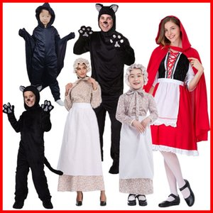 xgal0 Parent-Child children Little Red Riding Hood drama costume Wolf grandmother cos Big Grey Wolf role play stage Little Red Hat clothing