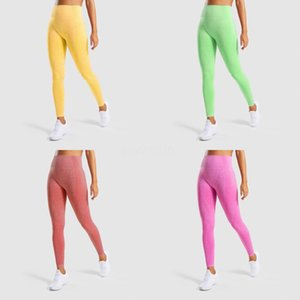 Seamless Yoga Leggings Athletic Fitness Leggings Women Stretchy High Waist Push Up Yoga Pants Gym Sports Tights Inner Pocket#877