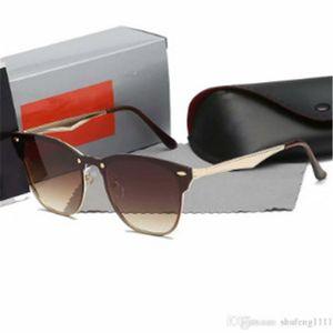 Pilot Style Sunglasses Brand Designer Sunglasses for Men Women Metal Frame Flash Mirror Glass Lens Fashion Sunglasses +box